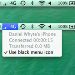 MacでiPhoneテザリング時の電波強度表示できるOSXアプリ[Tether Strength]