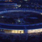 Apple Parkの豪華な日没の映像
