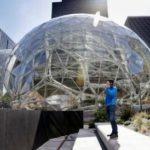 Amazonの未来的な新しい「スフィア」本部の写真