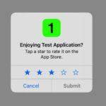 App Storeでは、公式APIを使用してアプリの評価をリクエスト可能に!独自機能は禁止?