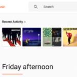 ウェブ上のGoogle Playミュージックでは、サイドナビゲーションレールが便利