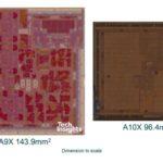 新しいiPad Pro A10Xチップは、最初の10nm TSMCチップ、これまでの最小のiPad SoCサイズ