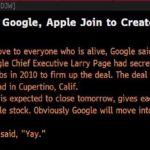 ダウジョーンズの技術的なエラーは、GoogleがAppleを買収したという偽のニュースを配信