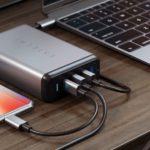Satechi、MacBook、iPhone、iPad向け「Type-C 75Wマルチポートトラベルチャージャー」を発売