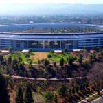 アップルパークの最新ドローン映像、造園と最終的な施設の映像