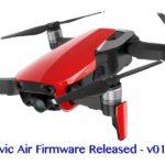 DJI Mavic Airのファームウェア v01.00.0200 がリリースされました !