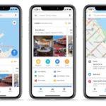 iOS GoogleMapがアップデート、クイックアクセストラフィック、中継、ローカル情報タブなど