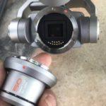 DJIファントムのリーク画像では、50mm f / 2.8レンズの交換レンズシステムを公開