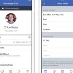 Facebookのメッセンジャーキッズに、スリープモードが追加
