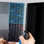 MacBookとMacBook Proバタフライキーボードの詰まりを取る清掃方法