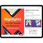 Highlights、研究者向けのPDFリーダーがiPhone、iPad、Macのユニバーサルアプリで登場