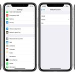 iPhoneでデフォルト使用するメールアカウントを変更する方法