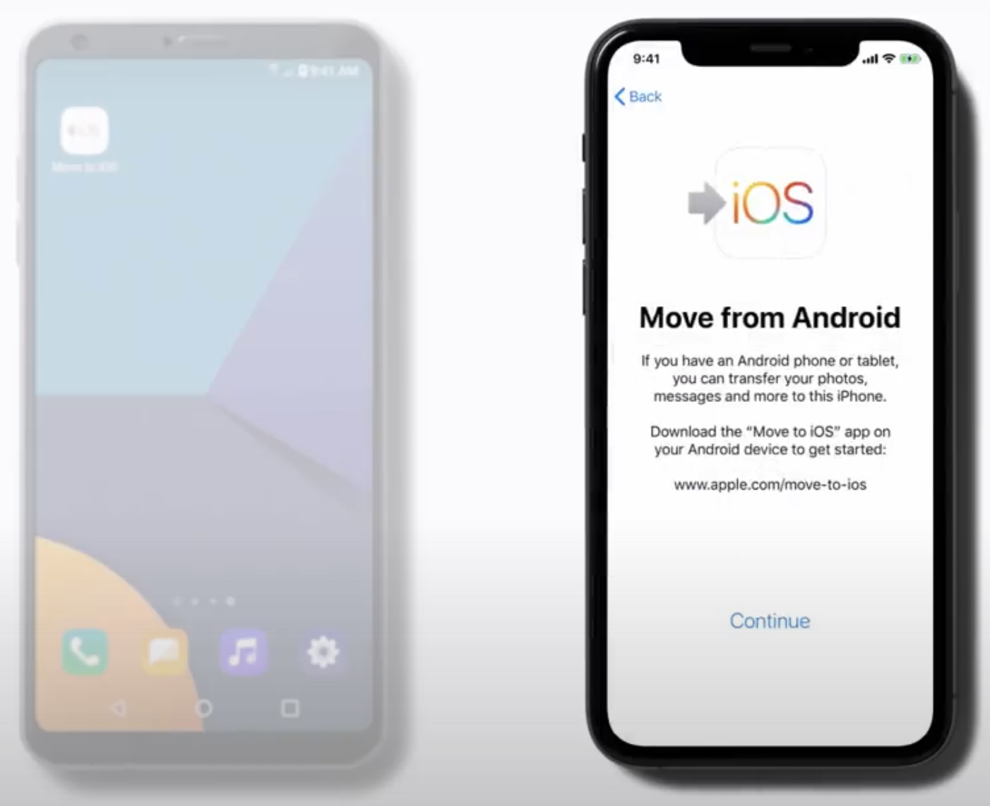 android から iphone データ 移行 アプリ